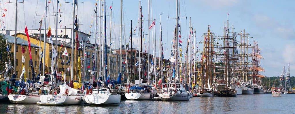 De verschillende zeilschepen tijdens de 2009 editie van de Tall Ship Races